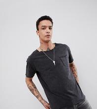 Heart & Dagger | Выбеленная свободная футболка Heart & Dagger - Серый | Clouty