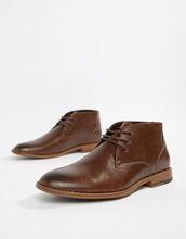 New Look | Коричневые ботинки чукка из искусственной кожи New Look - Коричневый | Clouty