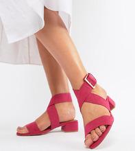 ASOS | Сандалии для широкой стопы ASOS DESIGN Federal - Розовый | Clouty