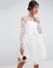 ASOS | Кружевное платье мини с длинными рукавами ASOS BRIDAL - Белый | Clouty