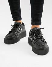 T.U.K   Криперы на платформе со шнуровкой T.U.K - Черный   Clouty