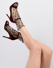 ASOS | Полупрозрачные сетчатые носки ASOS DESIGN - Черный | Clouty