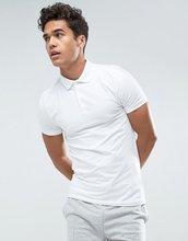 ASOS   Белая футболка-поло облегающего кроя ASOS - Белый   Clouty