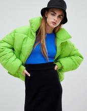 bershka   Дутая куртка Bershka flash - Зеленый   Clouty
