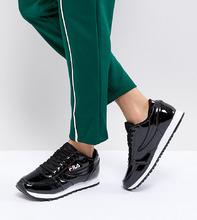 FILA | Черные лакированные кроссовки Fila Orbit - Черный | Clouty