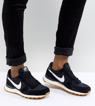 NIKE | Черно-белые нейлоновые кроссовки Nike Internationalist - Черный | Clouty