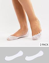 ASOS | 2 пары белых низких носков ASOS DESIGN - Белый | Clouty