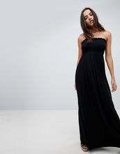 Boohoo | Платье-бандо макси Boohoo - Черный | Clouty