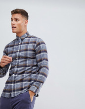 Selected Homme | Приталенная рубашка в клетку Selected Homme - Темно-синий | Clouty