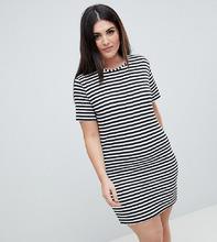 Boohoo | Платье-футболка в полоску Boohoo Plus - Мульти | Clouty