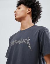 ASOS   Свободная футболка Metallica ASOS DESIGN - Серый   Clouty