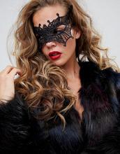 ASOS | Черная кружевная маска ASOS DESIGN HALLOWEEN - Черный | Clouty
