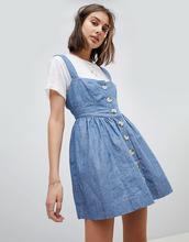 Free People   Платье на пуговицах из ткани шамбре Free People - Синий   Clouty