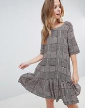 Vila | Платье в клетку с заниженной талией Vila - Фиолетовый | Clouty