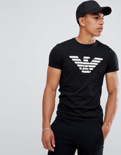 Emporio Armani | Черная футболка с круглым вырезом и большим логотипом Emporio Armani - Черный | Clouty