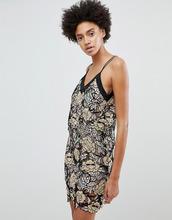N12H | Кружевное платье-комбинация N12H Midnight Blooms - Золотой | Clouty
