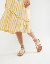 ASOS | Сандалии с декоративными кольцами и завязками ASOS DESIGN Fletcher | Clouty