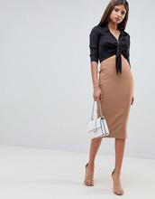 ASOS | Длинная юбка-карандаш ASOS DESIGN - Светло-бежевый | Clouty