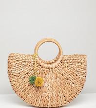 South Beach | Соломенная сумка с помпонами South Beach - Мульти | Clouty