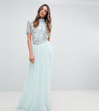 Frock And Frill | Декорированное платье макси Frock And Frill Tall Premium - Синий | Clouty