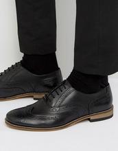 Dūnē/Minimum | Черные кожаные броги Dune Braker - Черный | Clouty
