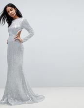 Club L | Платье макси с длинными рукавами, открытой спиной и пайетками Club L | Clouty