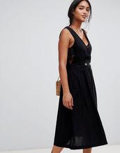 Free People | Платье с запахом Free People - Черный | Clouty