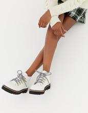 Selected | Кожаные походные ботинки Selected Femme - Белый | Clouty