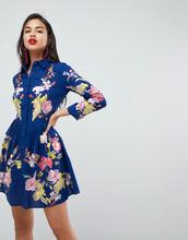 ASOS | Короткое приталенное платье на пуговицах с вышивкой ASOS PREMIUM | Clouty
