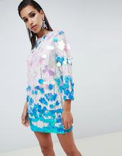 ASOS | Свободное платье с пайетками ASOS EDITION - Мульти | Clouty
