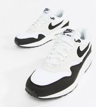 NIKE   Черно-белые кроссовки Nike Air Max 1 - Белый   Clouty