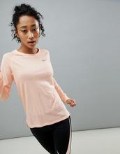 NIKE | Розовый лонгслив Nike Running Breathe Tailwind - Розовый | Clouty