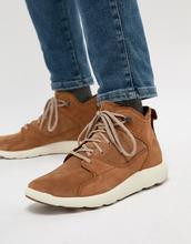Timberland | Замшевые высокие кроссовки Timberland - Коричневый | Clouty