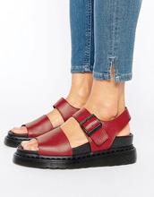 Dr. Martens | Красные кожаные сандалии Dr Martens Romi - Красный | Clouty
