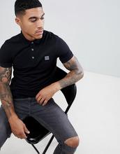 BOSS   Черная футболка-поло узкого кроя с логотипом Boss - Черный   Clouty