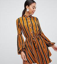 Parisian | Платье-рубашка без воротника с принтом в полоску Parisian Tall - Мульти | Clouty