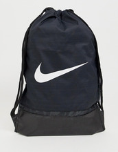 NIKE | Черный рюкзак с затягивающимися шнурками и логотипом-галочкой Nike 010 - Черный | Clouty