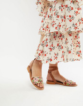 ASOS | Сандалии с вышивкой ASOS DESIGN - Белый | Clouty