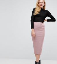 ASOS | Удлиненная юбка-карандаш с завышенной талией ASOS TALL - Розовый | Clouty