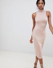 ASOS | Облегающее платье с воротником-поло ASOS DESIGN - Розовый | Clouty