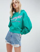 Wrangler | Худи укороченного кроя с логотипом Wrangler - Зеленый | Clouty