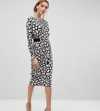 ASOS   Платье миди с леопардовым принтом ASOS TALL - Мульти   Clouty