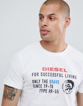 DIESEL | Футболка с логотипом Diesel T-Diego-xb - Белый | Clouty