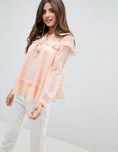 ASOS | Блузка с оборками и завязкой на бант ASOS DESIGN - Белый | Clouty