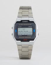 Casio | Серебристые цифровые наручные часы Casio A163WA-1QES - Серебряный | Clouty