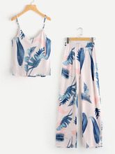 Shein | Jungle Print Cami Top With Pants | Clouty