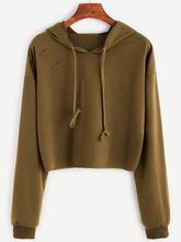 Shein | Drop Shoulder Ripped Drawstring Hooded Sweatshirt | Clouty
