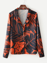 Shein | Jungle Print Revere Collar Shirt | Clouty
