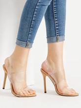 Shein | Clear Strap Stiletto Sandals | Clouty