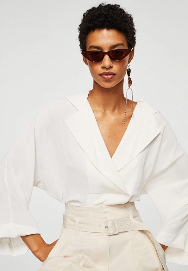 MANGO | белый Блуза | Clouty